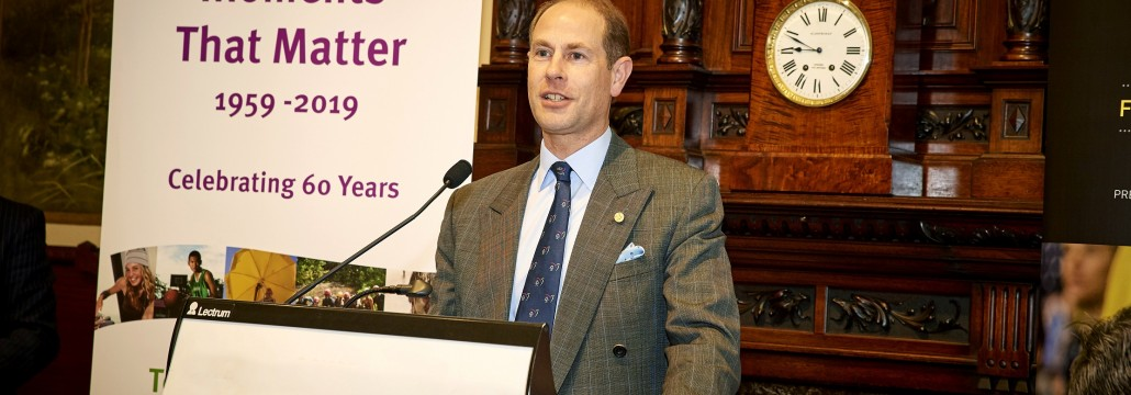 HRH Prince Edward speaking at Providence Lunch